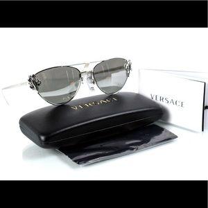 NWT Versace 2195-B Silver Frameless Sunglasses